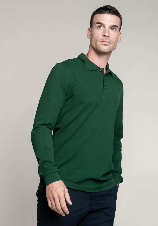 Kariban men 39 s long sleeve pique polo shirt for Mens long sleeve pique polo shirts